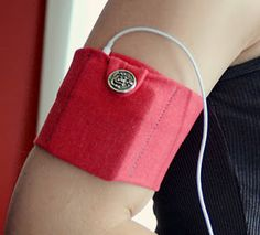 Sewing Tutorial - iPod arm band.  Similar to insulin pump + Dexcom G4 bands sold by TallyGear or DiabetesWear diabetes accessories co's.  Snap, velcro or button closure.  By Design Fixation