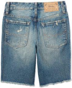 Ralph Lauren Boys' Destructed Denim Shorts