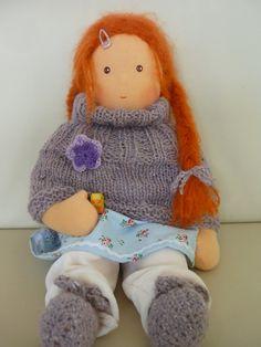 Puppe nach Waldorf Art 41 cm von JuniKate auf Etsy, $170,00