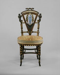 Side Chair  Attributed to Pottier and Stymus Manufacturing Company  (active ca. 1859–1910)  Date: ca. 1875 Geography: Mid-Atlantic, New York City, New York, United States Culture: American Medium: Walnut, mahogany, rosewood, cedar