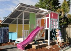 Home Sweet Home. #cubby #cubbyhouse Cubby houses inspire Physical and Mental Development. #blog