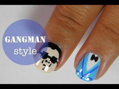Gangnam style nail art tutorial.