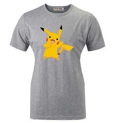 Summer Fashion Casual Cotton T shirt Cartoon Cute Funny Happy Pikachu Pokemon Graphic Women Girl Short Sleeves T-shirt Tops
