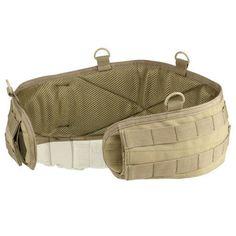 Condor Coyote Tan or Black Tactical MOLLE GEN II Battle Belt - S, M, or L