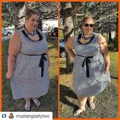 Another great look from our Curvy Kitten Collection! @mustangsallytwo is absolutely adorable in our Lucille Dress!