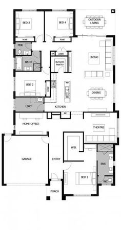 home maintenance,home repairs,home fixes,home remodeling Best House Plans, Dream House Plans, House Floor Plans, Home Renovation, Home Remodeling, 4 Bedroom House Plans, Home Design Floor Plans, Boutique Homes, House Blueprints