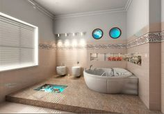 Modern Bathtub & Shower Combo