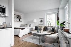 Beautiful Studio Apartment Decoration Ideas 47 Studio Apartment Design, Small Studio Apartments, Studio Apartment Decorating, Studio Interior, Minimalist Studio Apartment, Modern Apartments, Studio Design, Design Design, Cozy Apartment Decor