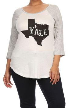 "plus size ""y'all"" graphic tee heather gray sleeves #plussizetops #plussizetee #plussizefashion"