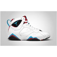 "Air Jordan 7 Retro ""Orion Blue"" Release Reminder - KicksOnFire.com ❤ liked on Polyvore"