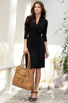 Whether it's work or weekend- all you need is one dress to fit your life. #lbd #wrapdress