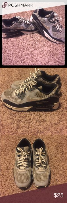 Nike air max 7Y (womens's size 9) In good condition. Some of the sole is worn from washing them in the washer. Don't fit anymore, my feet grew during my pregnancy :( Nike Shoes Athletic Shoes