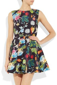 CAMILLA AND MARC  Revival printed twill mini dress  $560