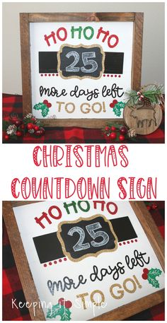 This Christmas countdown sign is super fun and perfect to count down the days until Christmas! Put there is a tutorial on how to put heat transfer vinyl on wood! signs Christmas Countdown Sign- How to Put Heat Transfer Vinyl on Wood Christmas Countdown, Christmas Vinyl Crafts, Christmas Signs Wood, Christmas Door Decorations, Diy Christmas Gifts, Christmas Projects, Christmas Trees, Holiday Signs, Christmas Fair Ideas