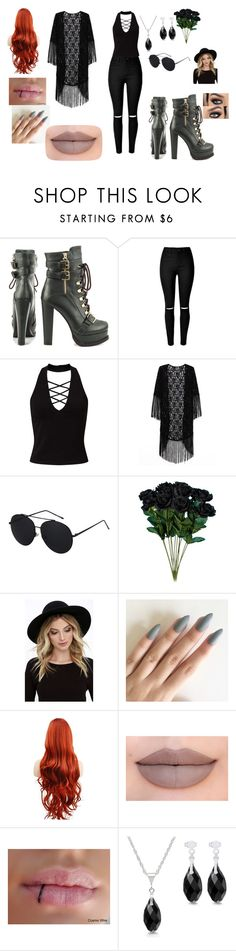 """""""Untitled #18"""" by kristen-cooley on Polyvore featuring Luichiny, Miss Selfridge, RHYTHM and Jeffree Star"""