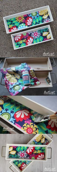 Mod Podge Crafts: Wood Stacking Trays from Hobby Lobby!