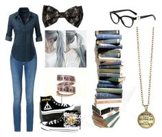"""""""Bookworm"""" by aidyn-nuske ❤ liked on Polyvore featuring Calvin Klein and Converse"""