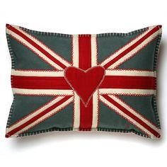 Jan Constantine Union Jack Cushion 48cmx35cm   Prezola - The Wedding Gift List