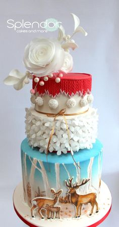 Love the sweater layer on top of this winter cake.