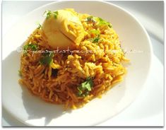 Priya's Versatile Recipes: Egg Briyani Egg Recipes Indian, Indian Dishes, Ethnic Recipes, Eastern Cuisine, Biryani, Fried Rice, Risotto, Eggs, Asian