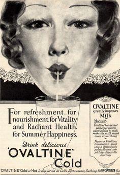 1936 Ovaltine Dog Tag Necklace, Milk, Ads, 1920s, Beverage, History, Amazing, Vintage, Food