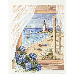 'A View From The Window' Counted Cross Stitch Kit - Overstock™ Shopping - Big Discounts on Janlynn Cross Stitch Kits