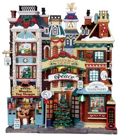 Christmas Lane by Lemax Collections. I am OBSESSED with Christmas villages!!!