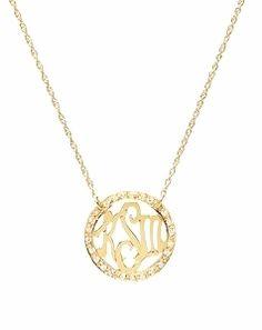 #Diamonds + #Monograms = A #Preppy Girl's Best Friend! Meet the Naples Diamond Monogram necklace from #SwellCaroline!