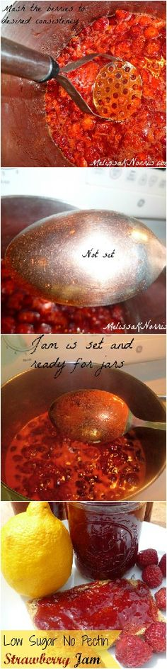 How to Make Low Sugar No Pectin Strawberry Jam-Pioneering Today www.melissaknorris.com