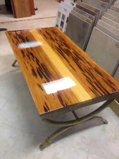 Cypress Wood Coffee Table