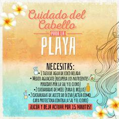 Cuidado del cabello durante la temporada de playa. #HairCare #Hair #Cabello #Cuidado