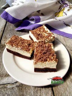 Prajitura Krem a la Krem 1 Tiramisu, Deserts, Dessert Recipes, Food And Drink, Snacks, Ethnic Recipes, Cakes, Appetizers, Cake Makers