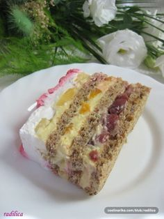 Sweets Recipes, Fruit Recipes, Cheesecake Recipes, Baking Recipes, Desserts, Albanian Recipes, Croatian Recipes, Torta Recipe, Kolaci I Torte