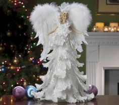 Angel Tree Toppers - Ideas on Foter Shabby Chic Christmas, Victorian Christmas, Pink Christmas, Christmas Angels, All Things Christmas, Beautiful Christmas, Christmas Time, Vintage Christmas, Christmas Crafts