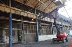 Déconstruction des halls sur Usine Cockerill à Seraing #spaque #remediation #rehabilitation #fricheindustrielle #brownfields