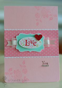 Stampin Up- You Are Loved & Four Frames stamp sets. Ribbon, DSP, mini Heart punch.