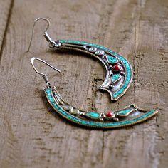 Janaki Silver Tribal Earrings