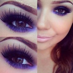 I can't even begin to tell you how in love I am with this purple make up! I am so going to try this look.