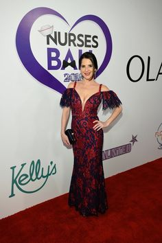 General Hospital Nurses Ball 2018 — Vote for the Best Dressed - Entertainment Ball Dresses, Nice Dresses, Black Lace Gown, Kelly Monaco, Romantic Surprise, Black Sleeveless Top, Poses For Photos, General Hospital, Red Carpet Fashion