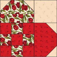 Nine-Patch Heart: FREE Quilt Block Pattern