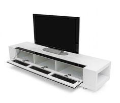Modrest Modern White TV Stand VGKCGBD005W-WHT