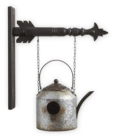 "/""TIN KETTLE BIRDHOUSE/"" Replacement Sign Metal Sign for Country Arrow Holders"