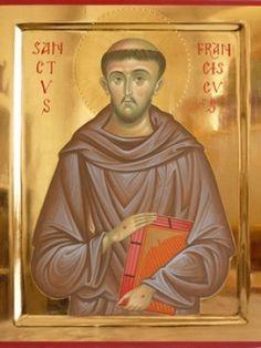 Francis Of Assisi, St Francis, Gods Glory, Byzantine Art, San Francisco, Christianity, Saints, Angels, Painting