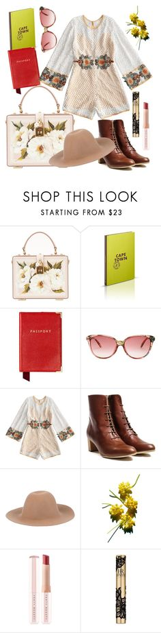 """""""Cape Town Travel"""" by vintage2modern ❤ liked on Polyvore featuring Dolce&Gabbana, Aspinal of London, Gucci, Puma, Helena Rubenstein, travel and rompers"""