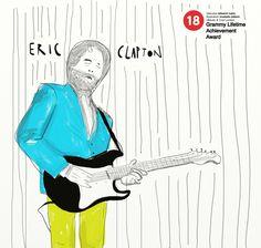 Eric Clapton Drawing by Mustafa Ödkem, via Behance