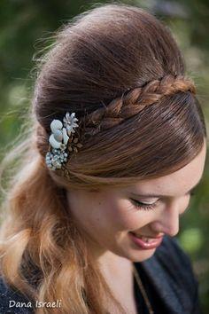 Beautiful vintage inspired handmade bridal headband by Lonkoosh