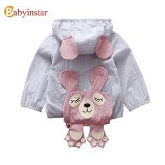Babyinstar 2018 nuevo Niños Niñas Chaquetas para niños con capucha patrón encantador cazadora niño niños Outwear ropa de abrigo niños
