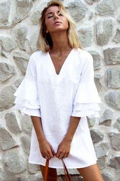 Half Sleeve Dresses, Half Sleeves, Types Of Sleeves, Dresses With Sleeves, Linen Dresses, Blue Dresses, Casual Dresses, Summer Dresses, Pink Dress Casual