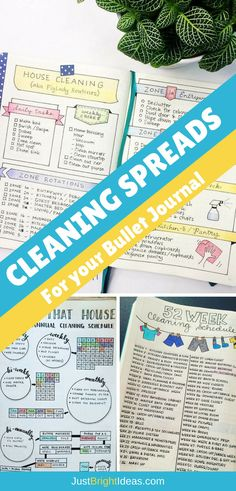 If you struggle to keep your home clean and tidy you're going to love today's Bullet Journal cleaning schedules. Pick out the spread that you love the most and stay on top of the chores once and for all!