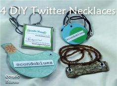 Twitter Handle Necklaces/business cards@http://howtousetwitterfordummies.com/